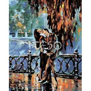Свидание в парке Раскраска картина по номерам акриловыми красками на холсте Iteso