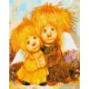 Влюбленные Ангелочки Раскраска картина по номерам на холсте МСА248