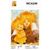 Характеристики Влюбленные Ангелочки Раскраска картина по номерам на холсте МСА248