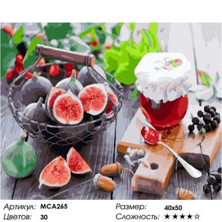 Количество цветов и сложность Инжирное варенье Раскраска картина по номерам на холсте МСА265