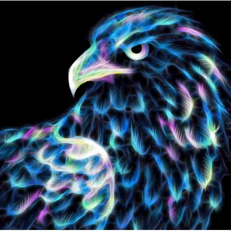 Неоновый орел Алмазная вышивка мозаика Алмазная живопись АЖ-1712
