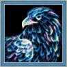В рамке Неоновый орел Алмазная вышивка мозаика Алмазная живопись АЖ-1712