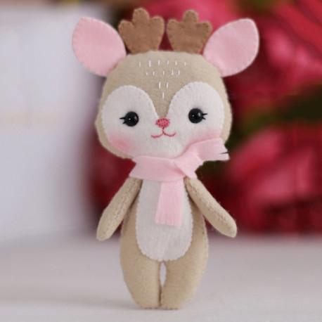 Олененок Синди Набор для создания игрушки своими руками Тутти 05-41