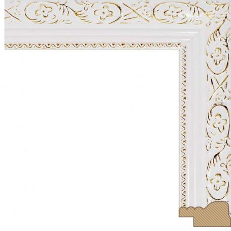 Antique (белый) Рамка багетная для картины на подрамнике и на картоне