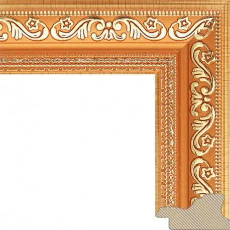 Jasmine Светло-коричневая с золотом Рамка багетная для картины на подрамнике или на картоне