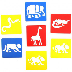 Животные Набор трафаретов для пальчиковых красок 761ST1