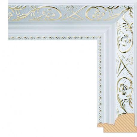 Flora Серебряная Рамка багетная для картины на подрамнике и на картоне