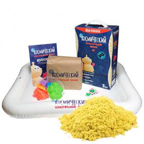 Цвет песка Желтый Набор для игры в Космический песок 3 кг КП02Ж30Н