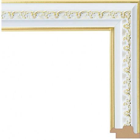 Bella Серебряный с золотом Рамка багетная для картины на подрамнике или на картоне