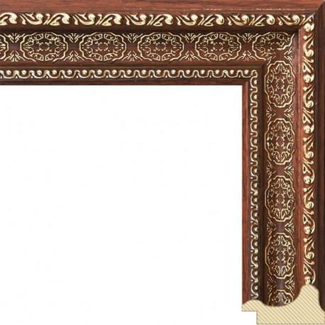Alice (темно коричневый) Рамка багетная для картины на подрамнике или на картоне
