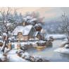 Снежный домик Раскраска картина по номерам на холсте KTMK-18327