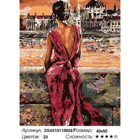 Количество цветов и сложность Теплая ночь Раскраска картина по номерам на холсте ZGUS101100267