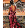 Теплая ночь Раскраска картина по номерам на холсте ZGUS101100267