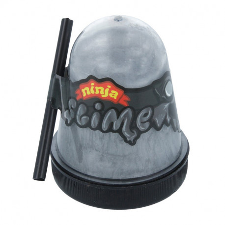 Серебряный Лизун слайм Slime Ninja 130 г