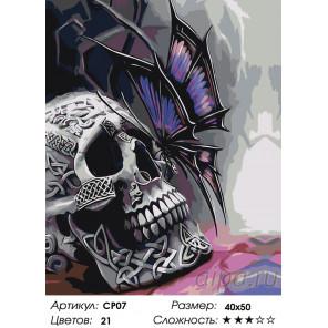 Кельтские мотивы Раскраска картина по номерам на холсте CP07