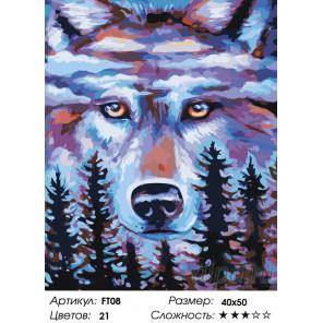 Количество цветов и сложность Хранитель леса Раскраска картина по номерам на холсте FT08
