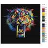 раскладка Радужный саблезубый тигр Раскраска картина по номерам на холсте
