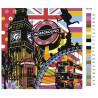 раскладка Радужный Лондон Раскраска картина по номерам на холсте