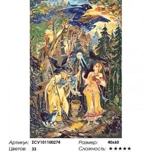 Количество цветов и сложность В гостях у сказки Раскраска картина по номерам на холсте ZCV101100274