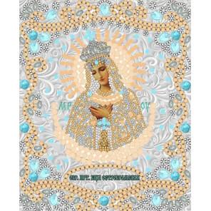 Богородица Остробрамская Канва с рисунком для вышивки бисером Конек 7123