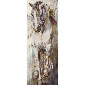 Норд Канва с рисунком для вышивки бисером Конек 1230