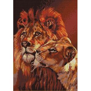 Пара львов Канва с рисунком для вышивки бисером Конек 1251