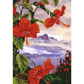 Экзотические цветы 3 Канва с рисунком для вышивки бисером Конек 9964