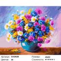 Яркий букет Раскраска картина по номерам на холсте