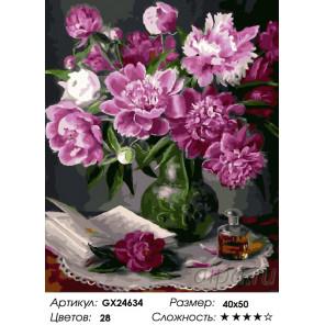 Количество цветов и сложность Ароматы Раскраска картина по номерам на холсте GX24634