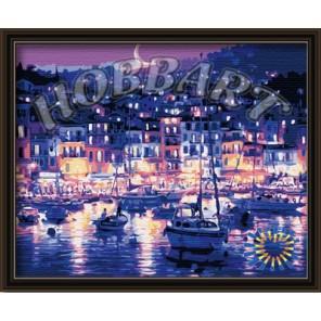 Ночная гавань Раскраска по номерам акриловыми красками на холсте Hobbart