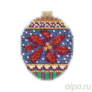 Рождественский цветок Набор для вышивания бисером с магнитом MILL HILL MH211814