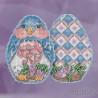 В рамке Синий цыпленок. Jim Shore Набор для вышивания бисером с магнитом MILL HILL JS181816