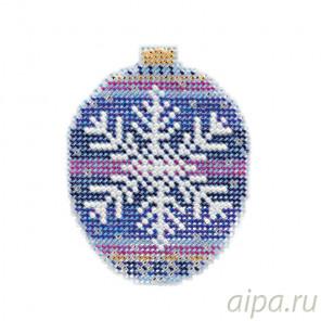 Королевская снежинка Набор для вышивания бисером с магнитом MILL HILL MH211812