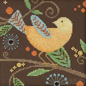 Желтая птица Набор для вышивания бисером MILL HILL DM301812