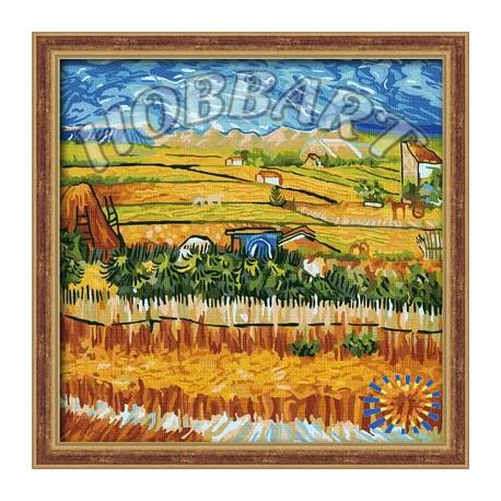 Пейзаж с голубой повозкой ( Репродукция Ван Гог) Раскраска ...