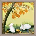 Лунные зайчики Раскраска по номерам акриловыми красками на холсте Hobbart