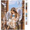 схема Малышка ангел Раскраска картина по номерам на холсте