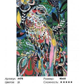 Райская птица Раскраска картина по номерам на холсте A478