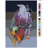 схема Ученый ворон Раскраска картина по номерам на холсте