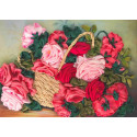 Корзина с розами Набор для вышивки лентами Каролинка КЛ(Н)-3027