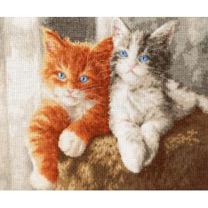 Пушистые котята Набор для вышивания Золотое руно НЛ-047
