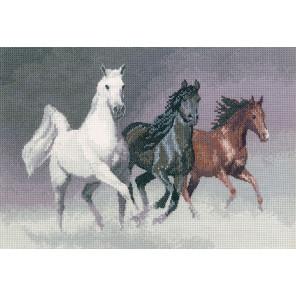 Дикие кони Набор для вышивания Heritage
