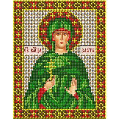 Святая великомученица Злата Набор для вышивания бисером GALLA COLLECTION М273