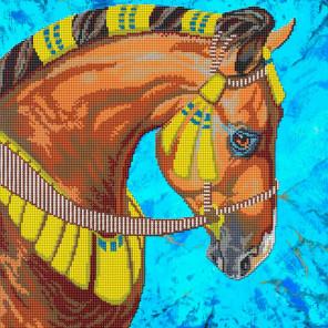 Лошадь Набор для вышивания бисером GALLA COLLECTION А408