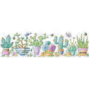 Сад с кактусами Набор для вышивания Heritage KCCG1480E