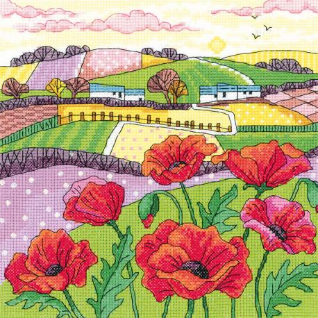 Маковое поле Набор для вышивания Heritage KCPL1475E
