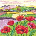 Маковое поле Набор для вышивания Heritage