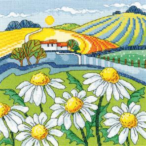 Ромашковое поле Набор для вышивания Heritage KCDL1474E