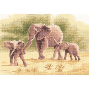 Слоны Набор для вышивания Heritage PGEL646E