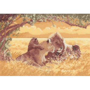 Львы Набор для вышивания Heritage PGLI618E